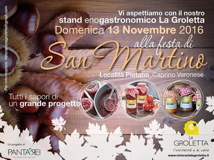 Vi aspettiamo domenica 13 novembre alla festa di San Martino, con i nostri prodo...