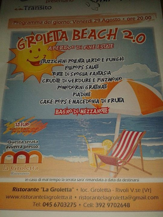 Groletta beach 2.0....un salute all'estate!  Bellissima serata!