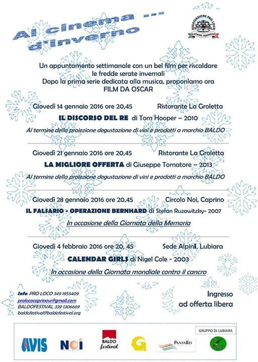 Per riscaldare le fredde serate invernali, l'associazione BALDO festival, in col...