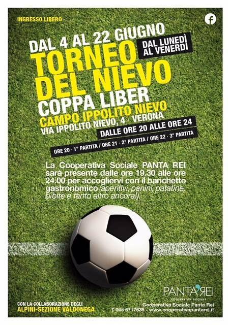Vi aspettiamo questa sera dalle 19:30 per la Coppa Liber al campo da calcio Ippo...